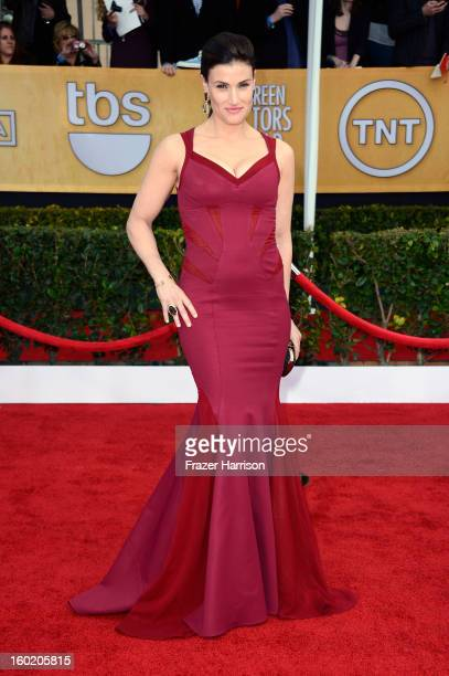 Actress Idina Menzel arrives at the 19th Annual Screen Actors Guild Awards held at The Shrine Auditorium on January 27 2013 in Los Angeles California