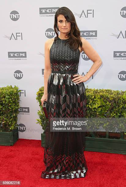 Actress Idina Menzel arrives at the American Film Institute's 44th Life Achievement Award Gala Tribute to John Williams at Dolby Theatre on June 9,...
