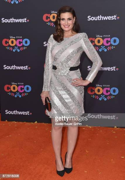 Actress Idina Menzel arrives at the premiere of Disney Pixar's 'Coco' at El Capitan Theatre on November 8 2017 in Los Angeles California