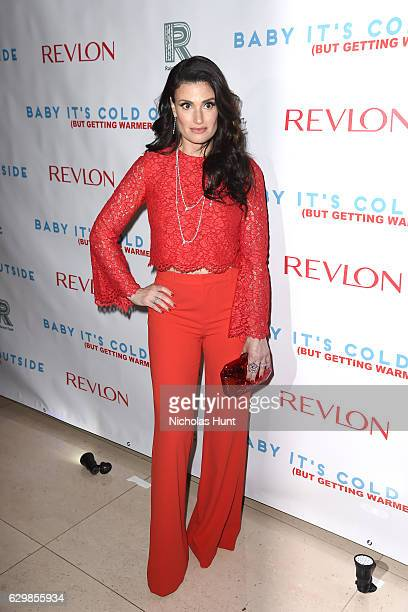 Actress Idina Menzel attends 'Baby It's Cold Outside' The 2016 Revlon Holiday Concert for The Rainforest Fund Gala at JW Marriott Essex House on...