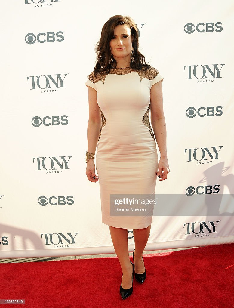 Actress Idina Menzel attends the 2014 Tony Honors Cocktail Party at Paramount Hotel on June 2, 2014 in New York City.