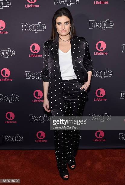 Actress Idina Menzel attends the Lifetime Beaches NY Screening at the AMC Empire 25 on January 18 2017 in New York City