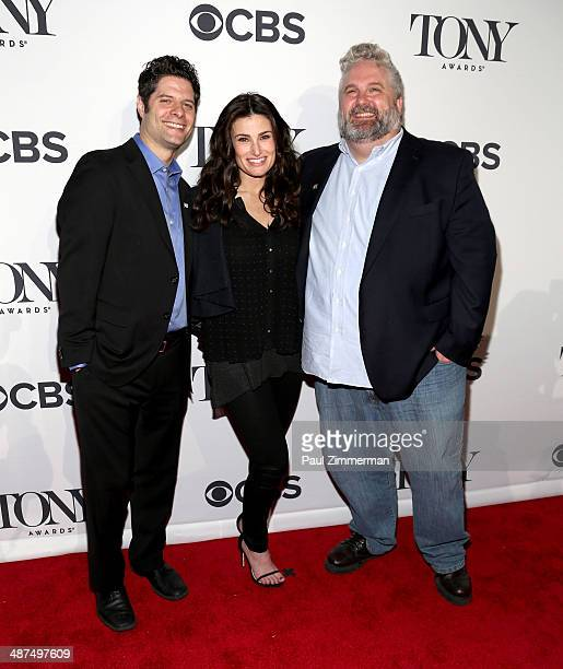 Actress Idina Menzel nominee for Best Performance by an Actress in a Leading Role in a Musical for 'If/Then' with composers Tom Kitt and Brian Yorkie...