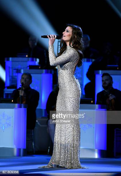 Actress Idina Menzel performs on stage during the CMA 2016 Country Christmas on November 8 2016 in Nashville Tennessee