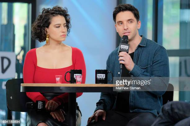 Actress Ilana Glazer and writer Paul W. Downs discuss the new film 'Rough Night' at Build Studio on June 9, 2017 in New York City.