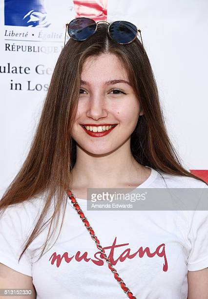 Actress Ilayda Akdogan attends the Champagne brunch reception honoring the French nominees for The 88th Academy Awards at La Residence de France on...