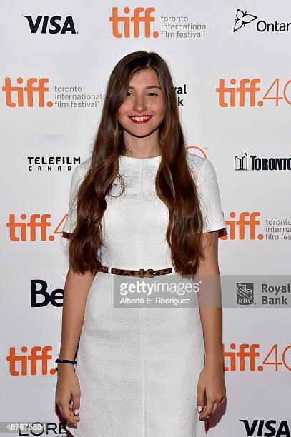 Actress Ilayda Akdogan attends the Mustang photo call during the 2015 Toronto International Film Festival at Ryerson Theatre on September 10 2015 in...
