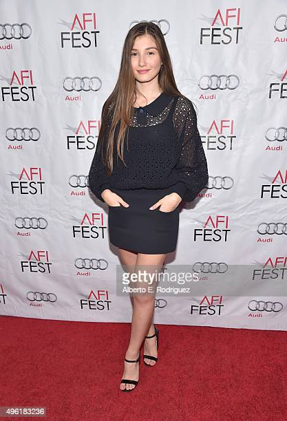 Actress Ilayda Akdogan attends the photo call for Cohen Media Group's Mustang during AFI FEST 2015 Presented By Audi at TCL Chinese 6 Theatres on...
