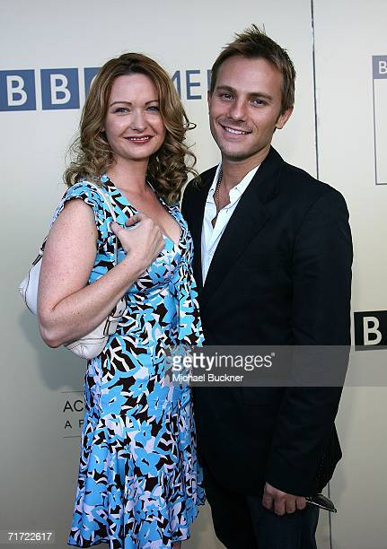 Actress Ilene Ferguson and Craig Robert Young arrive at the BAFTA/LAAcademy of Television Arts and Sciences Tea Party at the Century Hyatt on August...