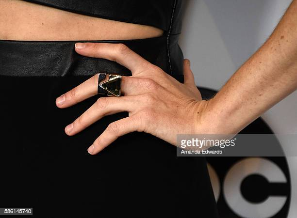 Actress Iliza Shlesinger ring detail attends the Disney ABC Television Group TCA Summer Press Tour on August 4 2016 in Beverly Hills California