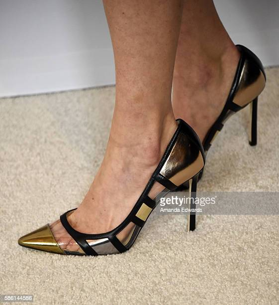 Actress Iliza Shlesinger shoe detail attends the Disney ABC Television Group TCA Summer Press Tour on August 4 2016 in Beverly Hills California