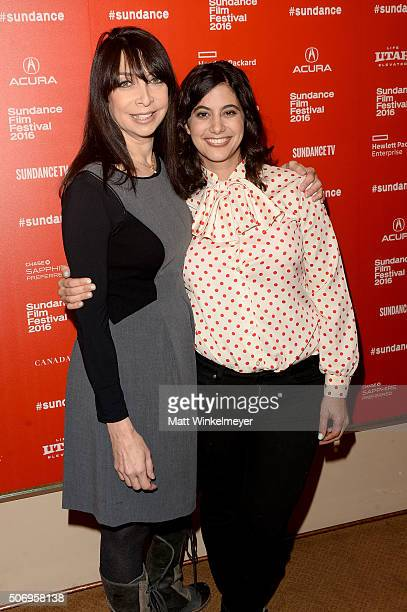 Actress Illeana Douglas and director/producer/actress Jessie Kahnweiler attend the 'The Skinny' Premiere during the 2016 Sundance Film Festival at...