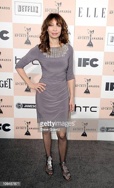 Actress Illeana Douglas arrives at the 2011 Film Independent Spirit Awards at Santa Monica Beach on February 26 2011 in Santa Monica California