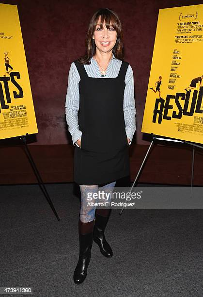 Actress Illeana Douglas attends the Los Angeles special screening of 'Results' at Landmark Theatre on May 18 2015 in Los Angeles California
