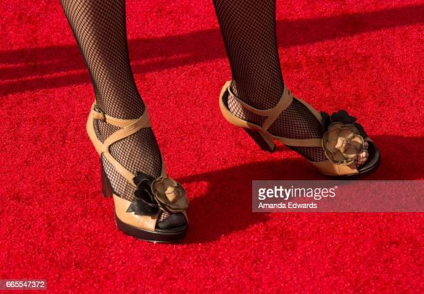 Actress Illeana Douglas shoe detail arrives at the 2017 TCM Classic Film Festival Opening Night Gala 50th Anniversary Screening of In The Heat Of The...