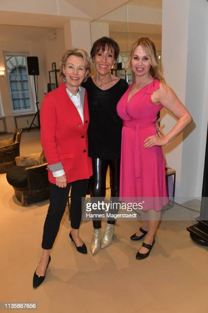 Actress Ilona Grübel Julie Noll and Christine Zierl attend the grand opening of the boutique Muenchen Mitte on April 8 2019 in Munich Germany