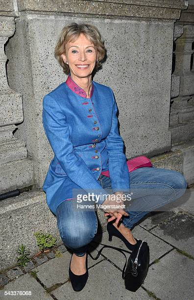 Actress Ilona Gruebel attends the UFA Fiction Reception during the Munich Film Festival 2016 at Cafe Reitschule on June 27 2016 in Munich Germany
