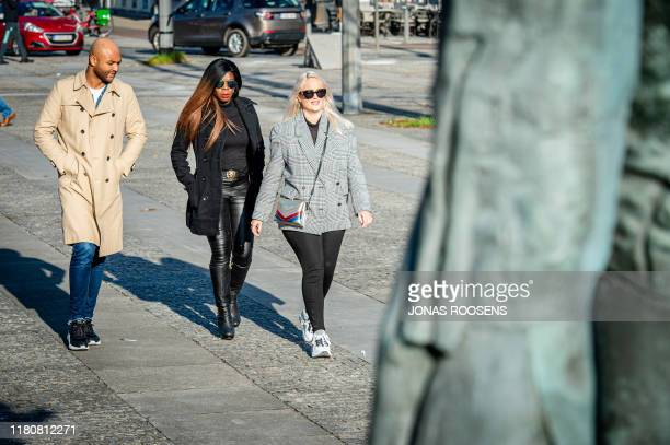 Actress Imanuelle Grives arrives for the verdict session of the Antwerp Correctional Court against Dutch actress Imanuelle Grives, accused of dealing...