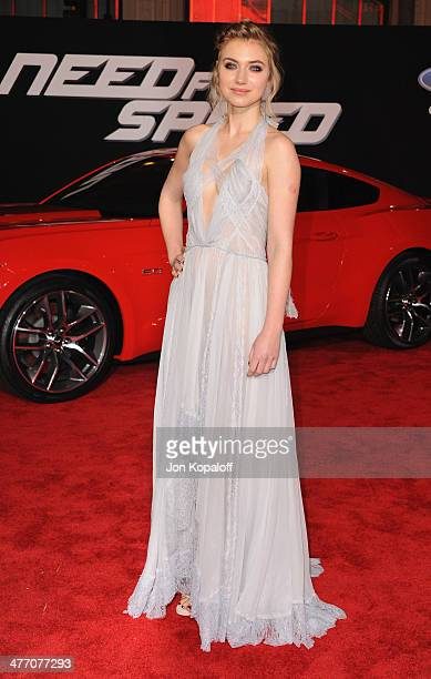 Actress Imogen Poots arrives at the Los Angeles Premiere 'Need For Speed' at TCL Chinese Theatre on March 6 2014 in Hollywood California