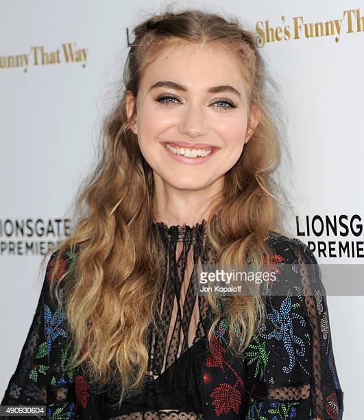Actress Imogen Poots arrives at the Los Angeles Premiere 'She's Funny That Way' at Harmony Gold on August 19 2015 in Los Angeles California