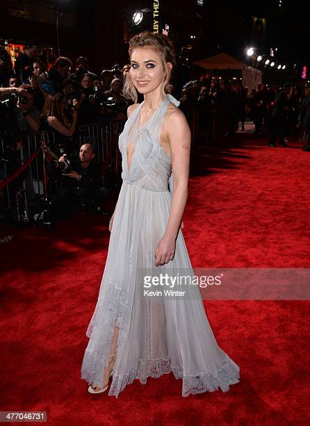 """Actress Imogen Poots arrives at the premiere of DreamWorks Pictures' """"Need For Speed"""" at TCL Chinese Theatre on March 6, 2014 in Hollywood,..."""