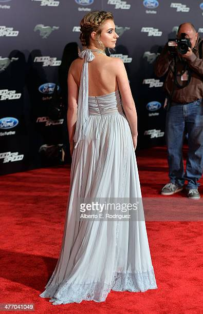 """Actress Imogen Poots arrives for the premiere of DreamWorks Pictures' """"Need For Speed"""" at TCL Chinese Theatre on March 6, 2014 in Hollywood,..."""