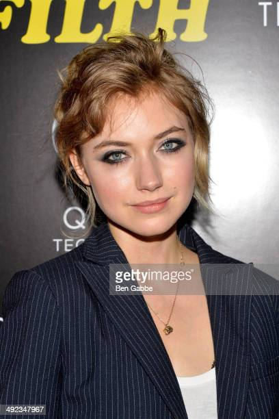 "Actress Imogen Poots attends ""The Filfth"" screening hosted by Magnolia Pictures and The Cinema Society at Landmark Sunshine Cinema on May 19, 2014 in..."