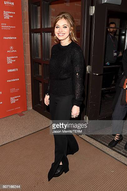 Actress Imogen Poots attends the 'Frank Lola' premiere during the 2016 Sundance Film Festival at Eccles Center Theatre on January 27 2016 in Park...
