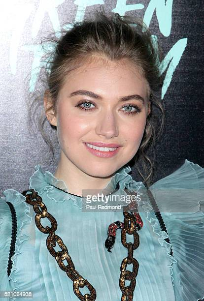 Actress Imogen Poots attends the Premiere of A24's 'Green Room' at ArcLight Hollywood on April 13 2016 in Hollywood California