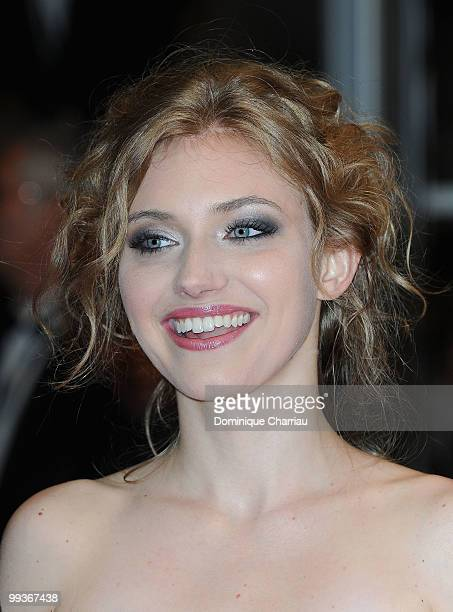 Actress Imogen Poots attends the Premiere of 'Chatroom' held at the Palais des Festivals during the 63rd Annual International Cannes Film Festival on...