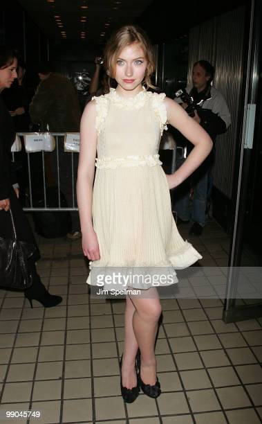 Actress Imogen Poots attends the premiere of 'Solitary Man' at Cinema 2 on May 11 2010 in New York City