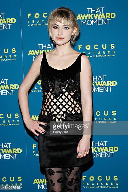 Actress Imogen Poots attends the That Awkward Moment screening at Sunshine Landmark on January 22 2014 in New York City