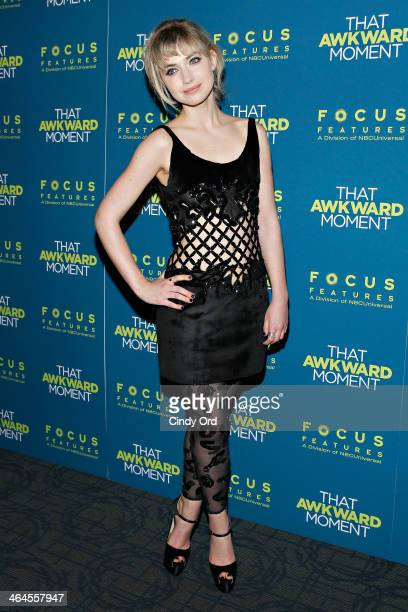 Actress Imogen Poots attends the 'That Awkward Moment' screening at Sunshine Landmark on January 22 2014 in New York City