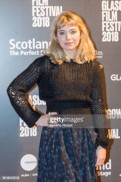 Actress Imogen Poots attends the UK Premiere of 'Mobile Homes' during the 14th Glasgow Film Festival at Glasgow Film Theatre on February 26 2018 in...