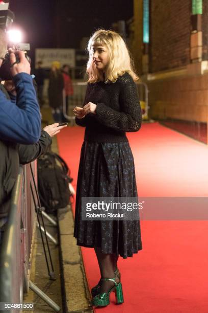 Actress Imogen Poots gives an interview at the UK Premiere of 'Mobile Homes' during the 14th Glasgow Film Festival at Glasgow Film Theatre on...
