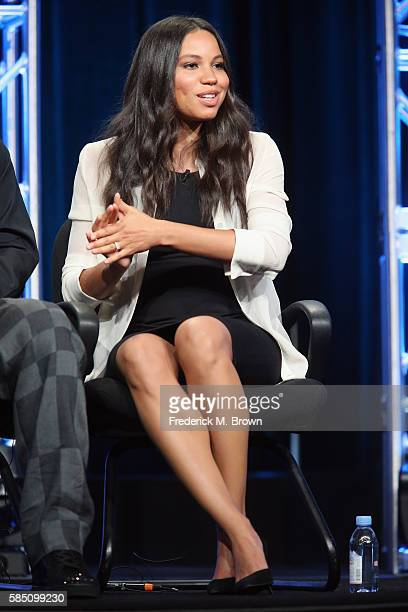 Actress in Underground at WGN America Jurnee SmollettBell speaks onstage during the 'Cable Sponsored Lunch with special Diversity Panel' discussion...