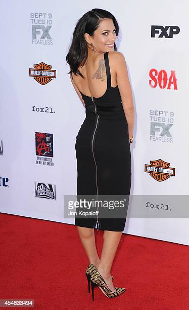 Actress Inbar Lavi arrives at FX's 'Sons Of Anarchy' Premiere at TCL Chinese Theatre on September 6 2014 in Hollywood California