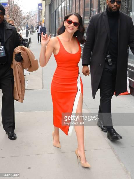 Actress Inbar Lavi is seen walking in Soho on April 10 2018 in New York City