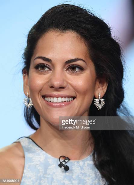 Actress Inbar Lavi of the television show 'Imposters' speaks onstage during the NBCUniversal portion of the 2017 Winter Television Critics...
