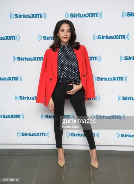 Actress Inbar Lavi visits the SiriusXM Studios on April 11 2018 in New York City