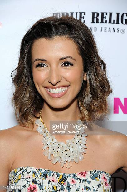 Actress India de Beaufort arrives at the NYLON Magazine June/July Music Issue Launch Party With Shirley Manson at The Roxy Theatre on May 30 2012 in...