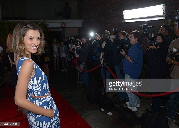 Actress India de Beaufort attends the NYLON Magazine and Tommy Girl Annual May Young Hollywood Issue Party at Hollywood Roosevelt Hotel on May 9 2012...