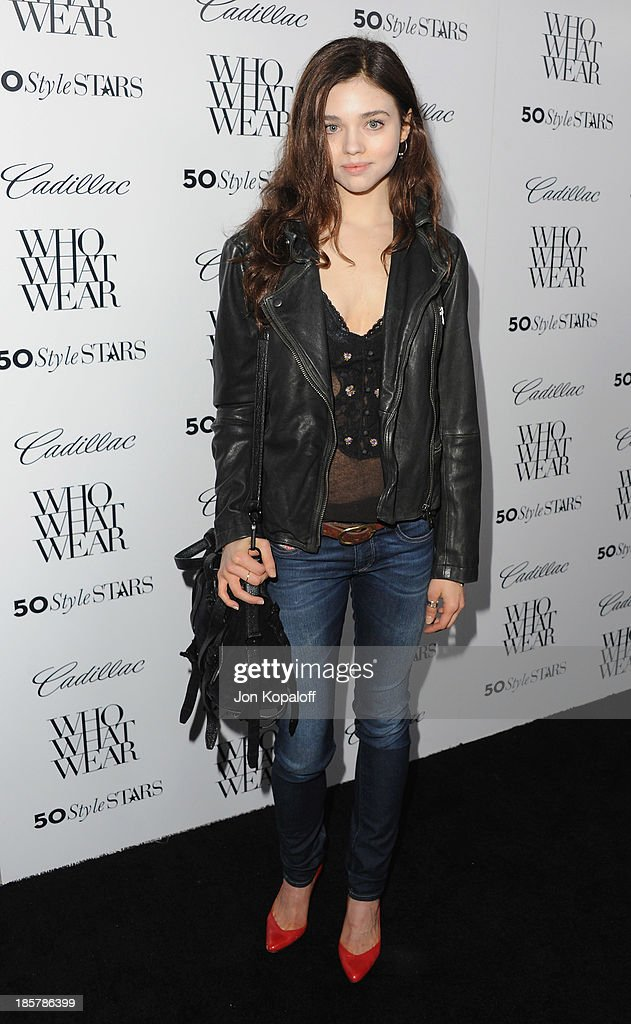 Actress India Eisley arrives at Who What Wear And Cadillac's 50 Most Fashionable Women Of 2013 at The London Hotel on October 24, 2013 in West Hollywood, California.