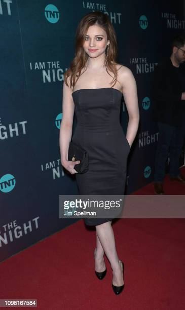Actress India Eisley attends the New York premiere Of TNT's I Am The Night at Metrograph on January 22 2019 in New York City