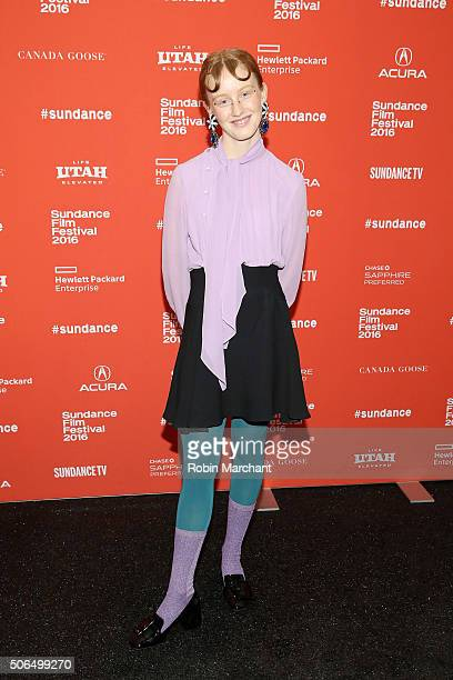 Actress India Menuez attends the 'White Girl' Premiere during the 2016 Sundance Film Festival at Library Center Theater on January 23 2016 in Park...