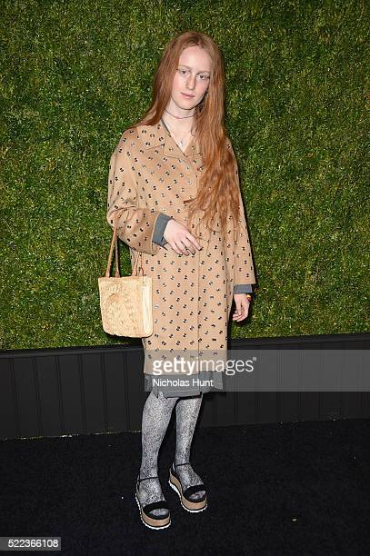 Actress India Salvor Menuez attends CHANEL Tribeca Film Festival Artists Dinner Arrivals on April 18 2016 in New York City