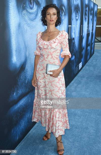 Actress Indira Varma at the Los Angeles Premiere for the seventh season of HBO's 'Game Of Thrones' at Walt Disney Concert Hall on July 12 2017 in Los...