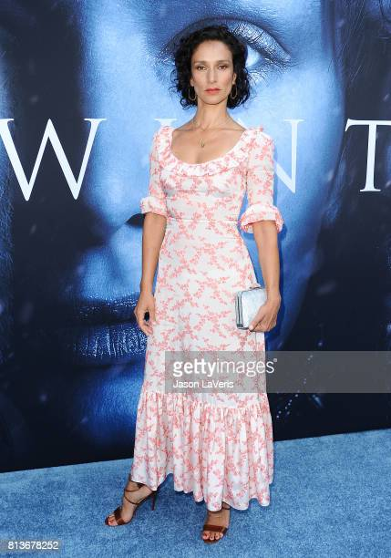Actress Indira Varma attends the season 7 premiere of Game Of Thrones at Walt Disney Concert Hall on July 12 2017 in Los Angeles California