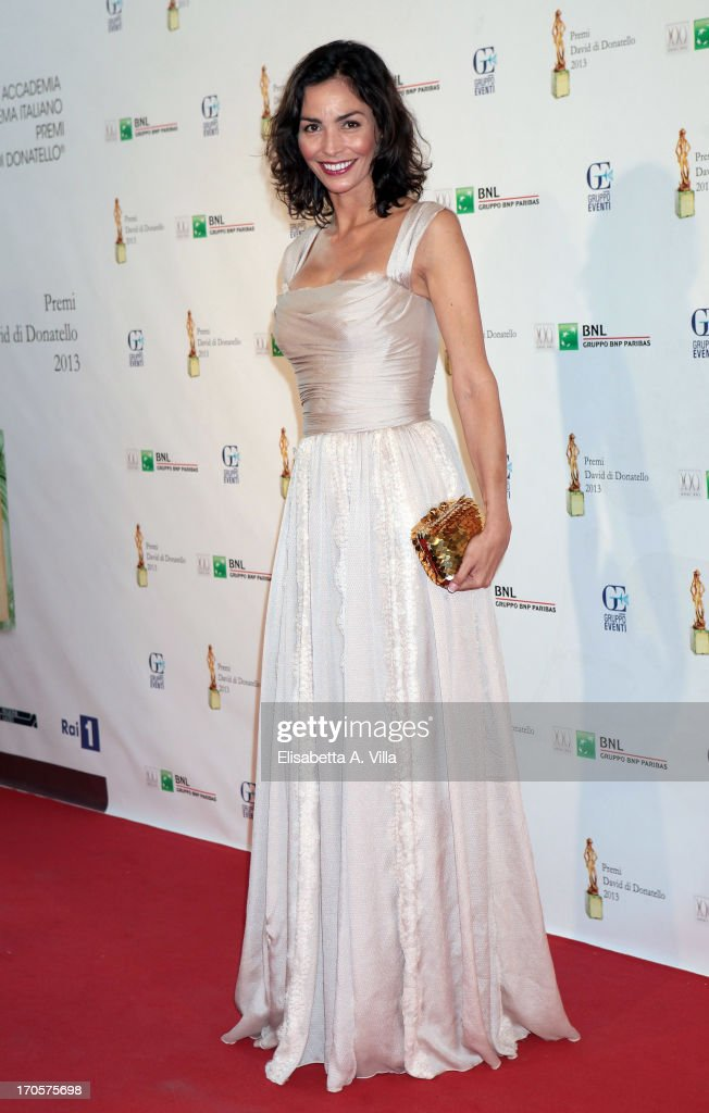Actress Ines Sastre attends 2013 Premi David di Donatello Ceremony Awards at Dear RAI Studios on June 14, 2013 in Rome, Italy.