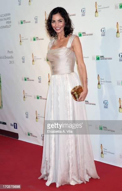 Actress Ines Sastre attends 2013 Premi David di Donatello Ceremony Awards at Dear RAI Studios on June 14 2013 in Rome Italy